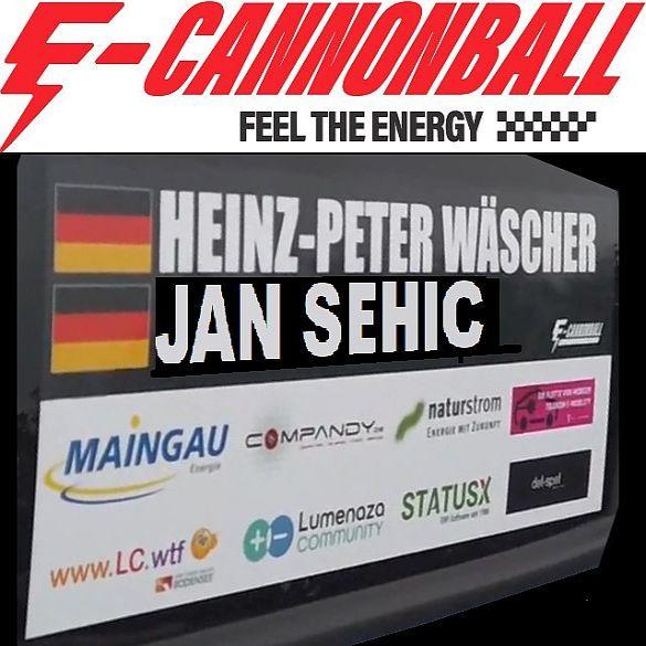 Heinz-Peter Wäscher wird beim E-Cannonball Vierter